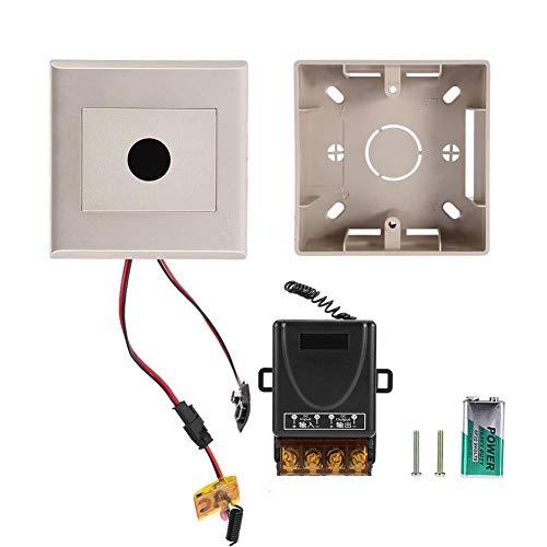 Interruptor de luz LED, interruptor de sensor de movimiento de sensibilidad estable de alta(Surface mounted golden panel+DC12-72V receiver)