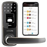 Ultraloq UL3 BT Bluetooth Enabled Fingerprint and Touchscreen Smart Lock (Aged Bronze) | 5-in-1 Keyless Entry...