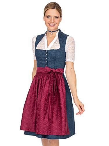 Stockerpoint Damen Kathi Dirndl, Mehrfarbig (Bleu-Beere Bleu-Beere), (Herstellergröße: 34)