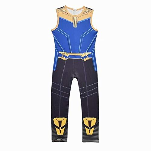 BCOGGThanos - Disfraz infantil de los Vengadores 4 Endgame Quantum War Battle para nios Gauntlet Halloween para nios Superhero Costumes Suit 5T Thanos Costumes