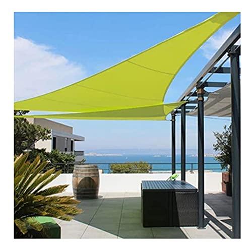 Toldo Vela de Sombra Triangular 4x4x4m Protección Rayos UV Impermeable, Toldo Oxford 300D Parasol para Patio Jardín Terraza Camping Balcón, Verde(Size:3 * 3 * 4.3m/10'*10'*14')