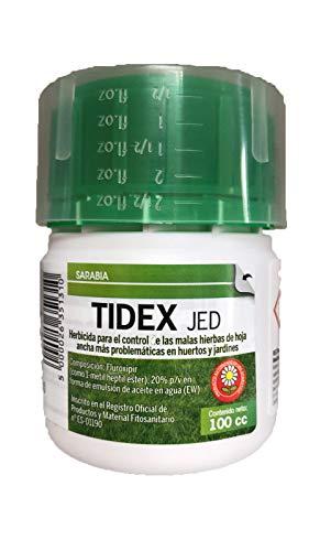 Tidex Herbicida Selectivo Uso Jardinería Exterior Doméstica contra Malas Hierbas de Hoja Ancha (100 cc)