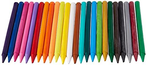 Ceras de Colores Plasti Alpino PA000024- Estuche de Ceras para Niños de 24 Unidades - Lápices de Cera para Manualidades y Uso Escolar - No Manchan, Más Resistentes