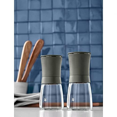 WMF Trend Gewürzmühlen-Set 2-teilig Keramikmahlwerk Salzmühle Pfeffermühle in Antrazitgrau