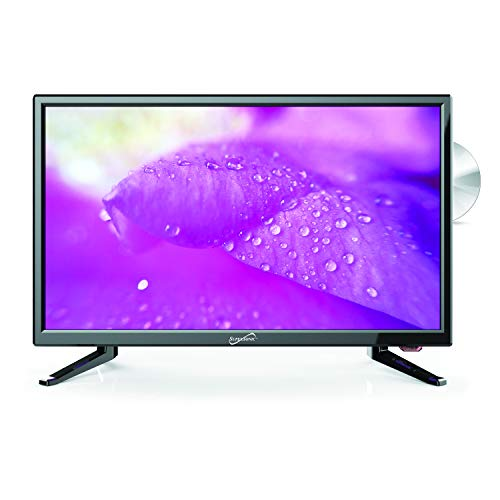 SuperSonic SC-2212 LED Widescreen HDTV & Monitor 22', Built-in DVD Player with HDMI, USB, SD & AC/DC Input: DVD/CD/CDR High Resolution and Digital Noise Reduction