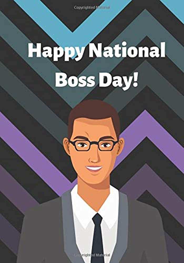 幾何学コンパイル地球Happy national boss day: Boss Notebook, Journal, Diary (140 Pages, diary with lined paper, 7 x 10)