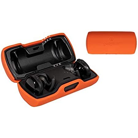 Silicone Cover for Bose SoundSport Free Truly Wireless Sport Headphones Charger Box (Orange)