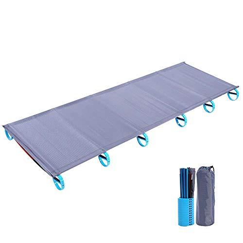 Aluminiumlegierung Klapp Einzelbett Camping Schlafsessel Feuchtigkeitsfeste Pad Outdoor Tragbare Schlafsofa mit Aufbewahrungstasche