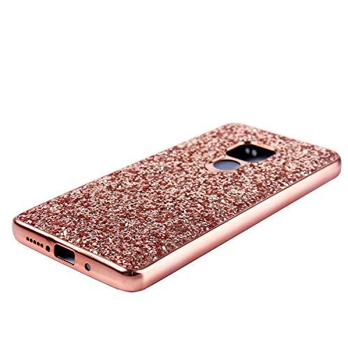 Slynmax Huawei Mate 20 Hülle Glitzer Bling Schutzhülle Huawei Mate 20 Hülle Mädchen Soft Flex Slim TPU Silikon Hülle Bumper Style Tasche Luxus Handyhülle Kompatibel mit Huawei Mate 20 Hülle,Rosegold - 3