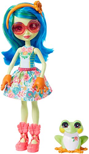 Enchantimals-Tamika Tree Frog Muñeca con Mascota Burst, multicolor (Mattel GFN43)