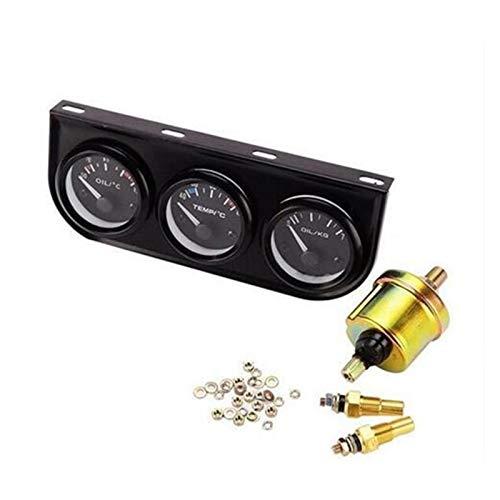 shiqi Universal 52mm 3in1 Medidor de automóvil Auto Pod Kit Triple Boost ACEPÓSITO Agua Temp Equipo Temperatura Temperatura Sensor HERRAMIENTE (Color : Black)