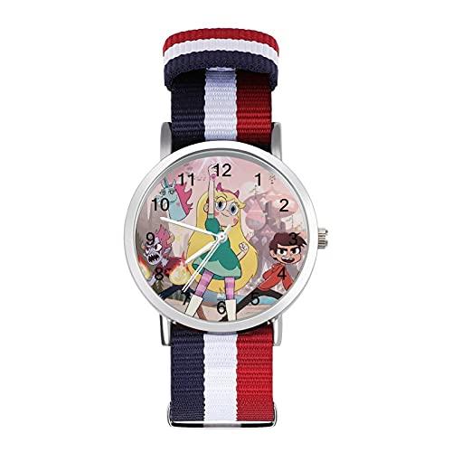 Star Vs Forces - Reloj de pulsera con espejo de cristal, estilo casual, adecuado para oficina, escuela, hombres y mujeres