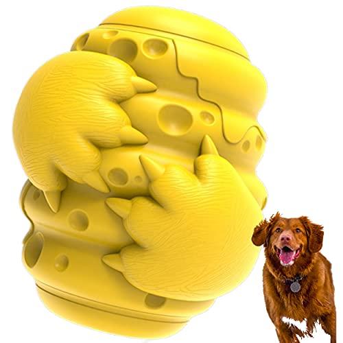 Der Bienenstock - Unzerstörbar Naturkautschuk Hund kauen Spielzeug von Queen & Hunter - 4 in 1 - Trick oder Treat Dispenser - Zähne Reiniger - Heavy Duty - Eco Friendly