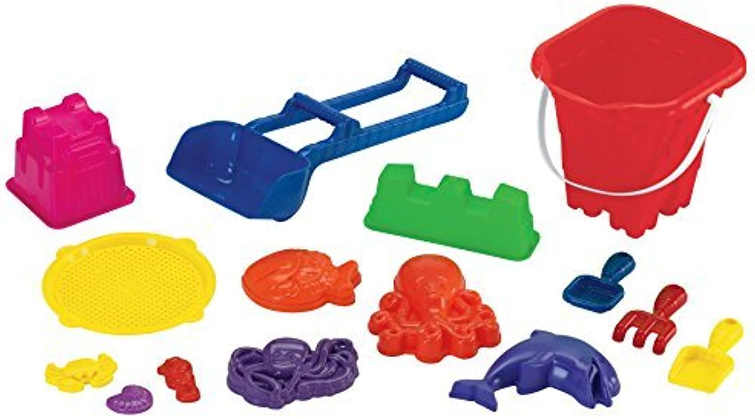 American Plastic Toys 15 Pieces Beach Set of Toys by American Plastic Toys