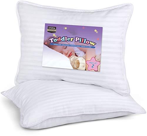 Utopia Bedding Almohada para Niños (Juego de 2) - 33 x 45 cm Almohada para Bebés con Mezcla de Algodón Cubierta Exterior - Respirable