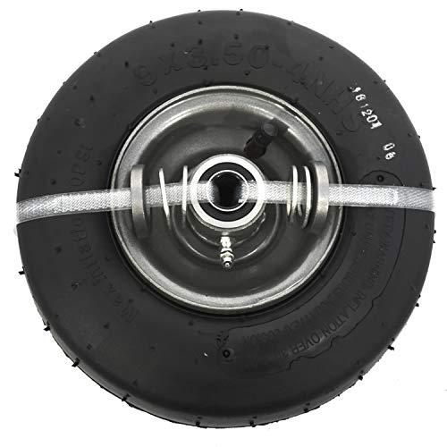 SureFit Front Pneumatic Wheel Tire Assembly Smooth Tread Universal Zero-Turn Mower 9x3.5-4
