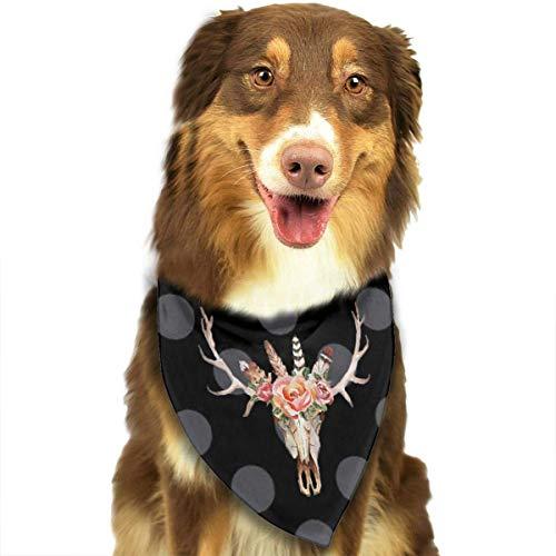Sdltkhy - Pañuelo clásico con diseño de calavera de vaca para mascota, gato, cachorro, perro