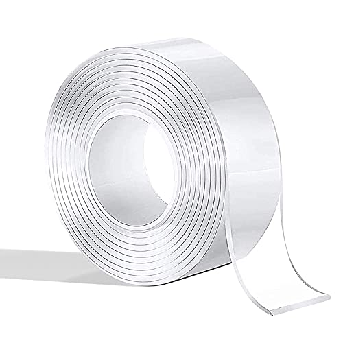 両面テープ 粘着テープ 滑り止め 防水テープ 洗濯可能 多機能 透明 耐熱 超強力 魔法のテープ 便利 (長さ1m 幅2.7cm 厚み0.2cm)