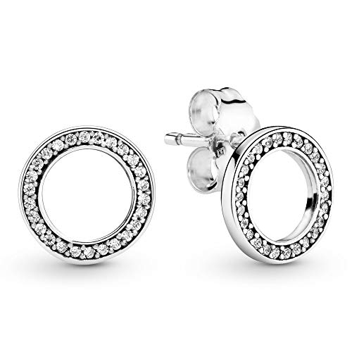 Pandora Women Silver Stud Earrings - 290585CZ