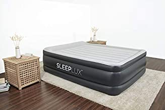 SleepLux Durable Inflatable Air Mattress with Built-in Pump, Pillow and USB Charger, 22