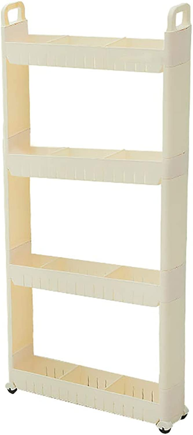 HUYP Shelf Kitchen Home Supplies Storage Rack White Quilted Bathroom Living Room Bedroom