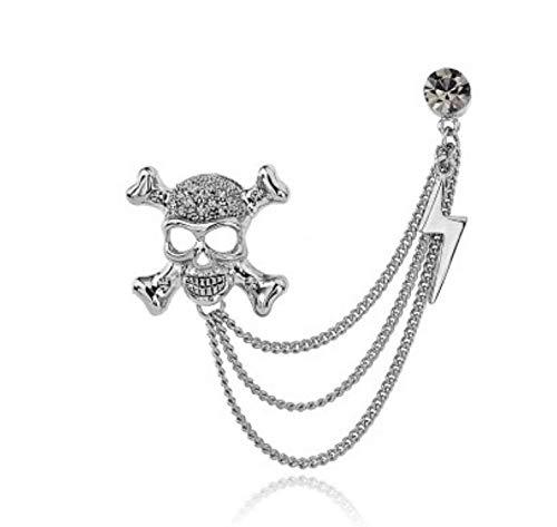 Doyime cadena de traje Broche de hombre broche de calavera accesorios broche de mujer broche retro silver