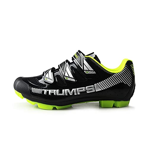 ZHBW MTB Zapatos De Bicicleta Montaña Hombres Auto-Bloqueo SPD Ciclismo Triatlón Zapatillas Deporte Carreras (Color : Black, Shoe Size : 44EU)