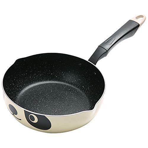 IUYJVR Olla de Panda de 24 CM, Cocina de inducción de Estilo japonés, sartén Universal, Olla de Aluminio Antiadherente, Olla de Piedra (tamaño: 20 cm)