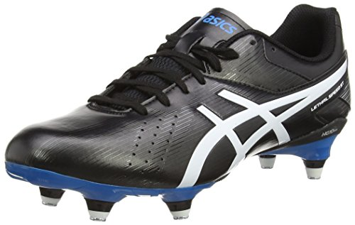 ASICS Herren Lethal Speed St Rugbyschuhe Schwarz (Black/White/Methyl Blue 9001) 48 EU