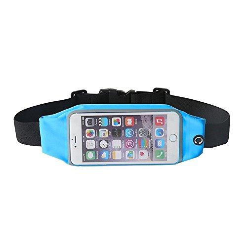 Theoutlettablet® heuptas voor hardlopen - lopen - waterdicht en reflecterend met tas voor smartphone Lava Pixel V2 kleur blauw (S)