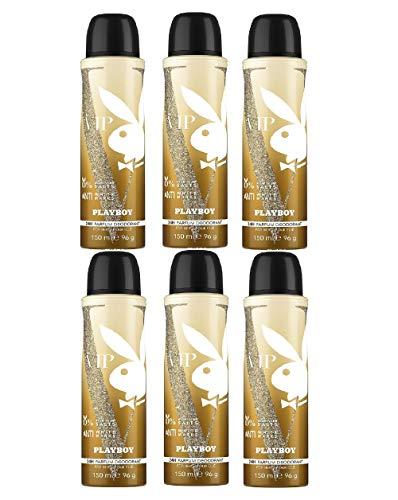 Playboy Vip Deo Spray 150ML. Pack de 6