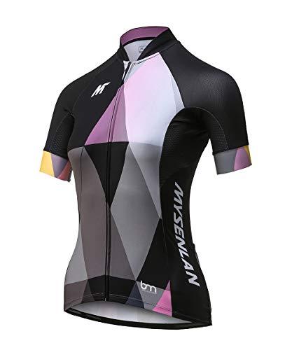 Mysenlan Maillot de Ciclismo Mujer Camiseta Manga Corta Jersey Ropa para Bicicleta Verano MTB Camisa