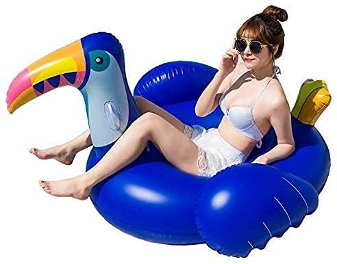 LGR Piscina Inflable para Adultos Piscina Hamaca de Agua Inflable, Tumbona Flotante Piscina Flotadores Silla para Adultos, Colchoneta de Playa Inflable con Cama de Aire Flotante