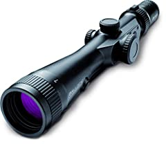 Sport type: Hunting, Shooting 25 feet at 100 yards (low) to 9 feet at 100 yards (high) field of view 10.5 millimeters (low) to 3.5 millimeters (high) exit pupil 50-Inch at 100 yards maximum adjust 13-Inch long Weighs 26 ounces