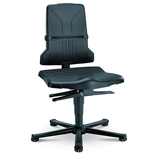 bimos Arbeitsdrehstuhl – SINTEC - Kunststoff, ESD-Ausführung - mit Gleitern - Arbeitsdrehstuhl Arbeitsdrehstühle Arbeitsstuhl Arbeitsstühle Drehstuhl Drehstühle ESD-Arbeitsstuhl ESD-Arbeitsstühle Universalstuhl Universalstühle