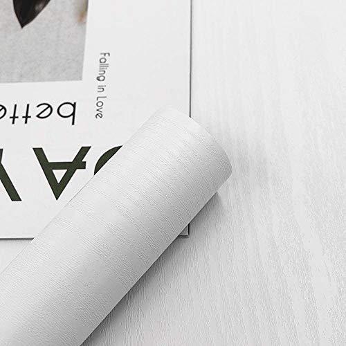 Weiße Holzmaserung, selbstklebende Tapete, 60 cm x 300 cm, zum Abziehen und Aufkleben, wasserdichte Vinylfolie für dekorative Möbel, Wände, Küchen, Arbeitsplatten