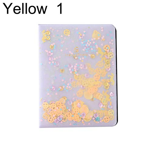 XdiseD9Xsmao Photo Album Quicksand Sequin voor Instant Polaroid Fujifilm Instax Mini Film 2 geel