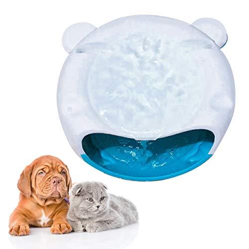 Yunso Haustier Trinkbrunnen Haustier-Wasser-Brunnen,Super leise automatische elektrische Wasserschale für Hunde, Katzen, Vögel und kleine Tiere (Schwarz+Weiß)