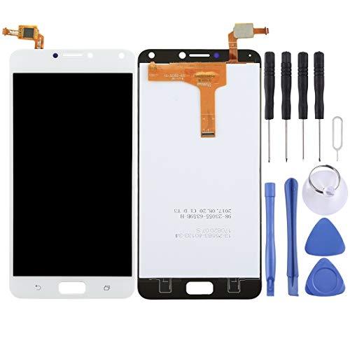 Mingxian Pantalla LCD y digitalizador Asamblea Completa for ASUS ZenFone 4 MAX / ZC554KL (Negro) (Color : White)