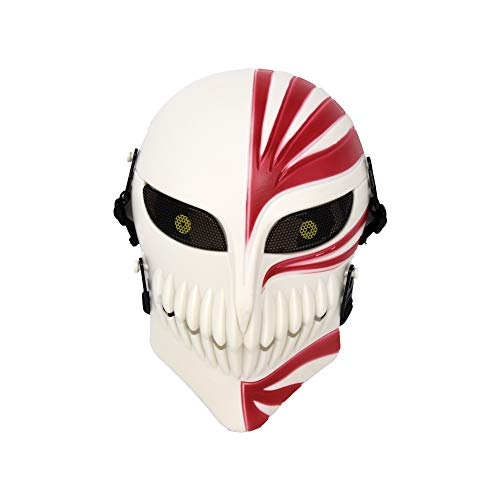 Bleach Ichigo Kurosaki Death Hollow Cosplay Halloween Maske Anime und Party Geschenk Rot-Weiß