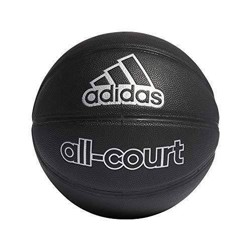 adidas All Court Basket Ball, Unisex-Adult, Black/silvermet, 7