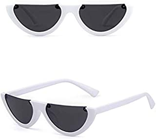 Half Clout Cat Eye Sunglasses Modern Half Moon 1990s Cut Off Half Frame Kurt Cobain Sunglasses for Women Men