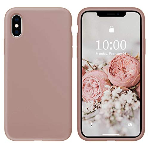 Oihxse Silicone TPU Gommage Case Compatible pour iPhone 11 Coque Ultra Fine Souple Protection Housse Mignon Couleurs Bumper Étui Anti-Rayures Cover(Ro