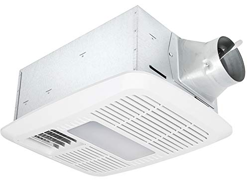 Delta Breez RAD110LED Delta BreezRadiance Series 110 CFM Fan/Dimmable Light with PTC Heater, 12W, 0.7 Sones, LED Light & Heater
