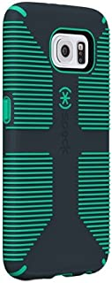 Speck Products CandyShell Grip Case for Samsung Galaxy S6 Edge - Retail Packaging - Charcoal Grey/Dragon Green