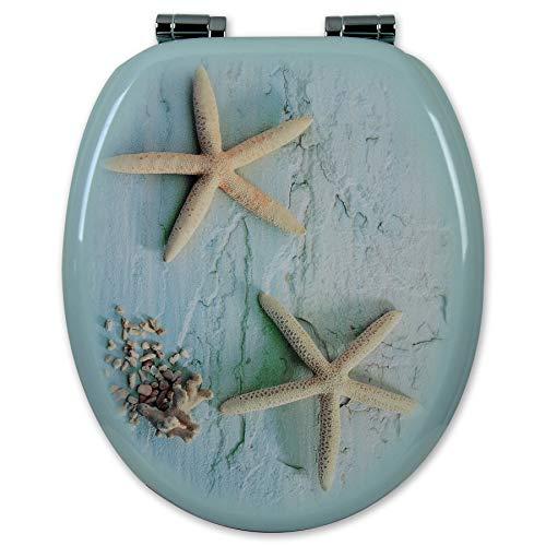 WOLTU Copriwater Bagno Sedile WC Universale in Legno Chiusura Ammortizzata Soft Close Toilet Seat 2479