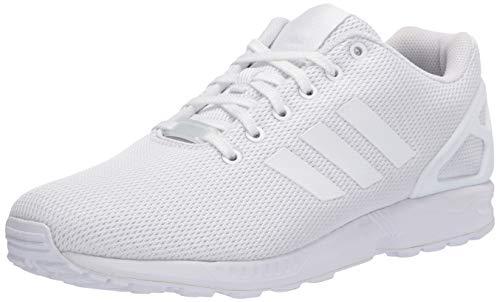 adidas Originals ZX Flux Shoes, Zapatillas Deportivas. Hombre, Blanco, Blanco, Gris Claro, 43 1/3 EU