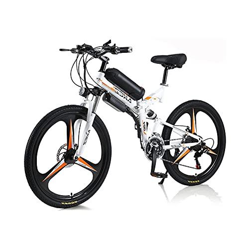 Elektrisches Fahrrad Für Erwachsene Männer Frauen, Faltfahrrad 350w 36v 10a 18650 Lithium-ionen-batterie Faltbar 26