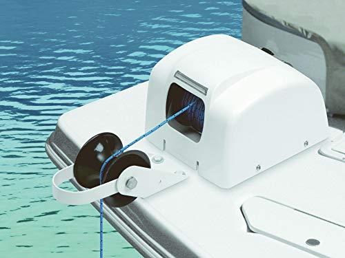 Elektrische Ankerwinde 30m 12V weiß Salzwasser für Anker bis 20Kg Seilwinde