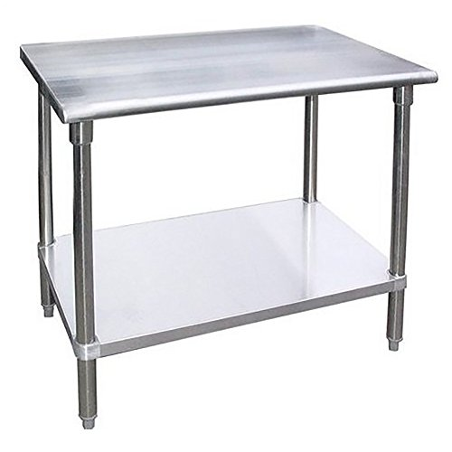 Work Table Food Prep Worktable Restaurant Supply Stainless Steel 18 x 48